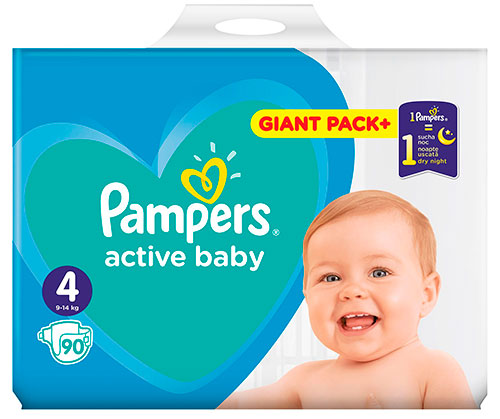 Pieluchy Pampers Active Baby MTH