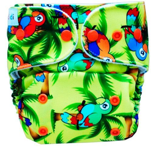 Pieluszki Ecodidi wzór hawajskie papużki